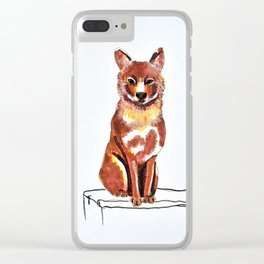 Dhole Clear iPhone Case