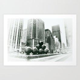 New York cu Art Print