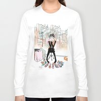 shoe Long Sleeve T-shirts featuring Shoe Boutique by Sonya Parra