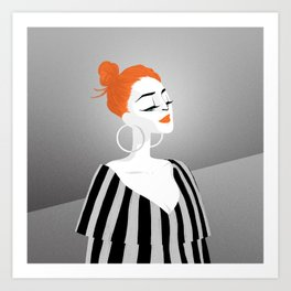 RED HAIRED GIRL Art Print