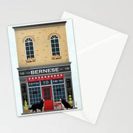 Bernese Mountain Dog Berner Coffee Tea Storefront Stationery Cards