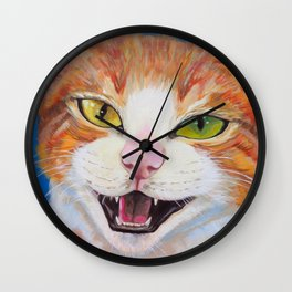 """Ready for """"Meow"""" Close Up Wall Clock"""