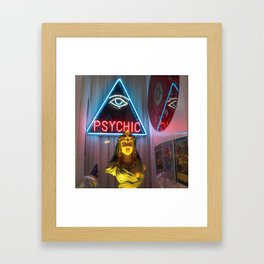 PSYCHIC Framed Art Print