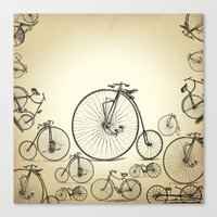 bicycle Canvas Prints featuring Bicycle by mark ashkenazi