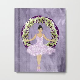 Ballerina Orchid Wreath Metal Print