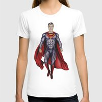 man of steel T-shirts featuring man of steel by Raymond Eagen