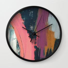 Anywhere: a bold, colorful abstract piece Wall Clock