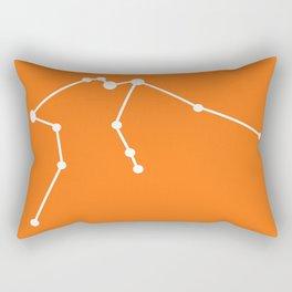 Aquarius (White & Orange) Rectangular Pillow
