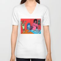 hotline miami V-neck T-shirts featuring HOTLINE. by Dave Bell