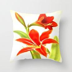 Amaryllis #1 Throw Pillow