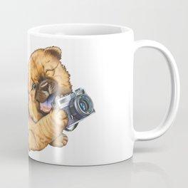 A little dog holding a camera Coffee Mug