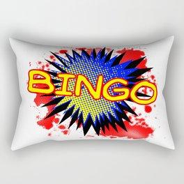 Bingo Comic Exclamation Rectangular Pillow
