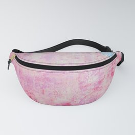 abstract vintage wall texture - pink retro style background Fanny Pack