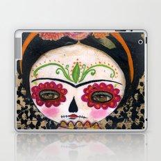 Frida The Catrina - Dia De Los Muertos Painted Skull Mixed Media Art Laptop & iPad Skin