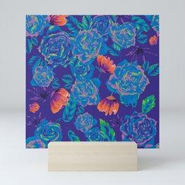 Pop roses having the blues Mini Art Print