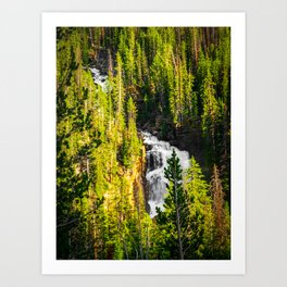 Nature Waterfalls Forest Beartooth Highway Print Art Print