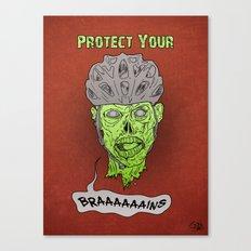 Zombie Brains Canvas Print