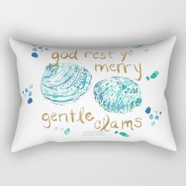 MERRY GENTLE CLAMS Coastal Holiday Rectangular Pillow