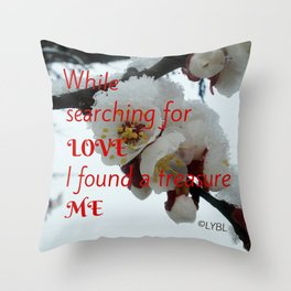 Love Yourself  Merry Christmas Edition Treasure Throw Pillow