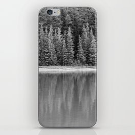 Forest Across the Lake (Black and White) iPhone Skin