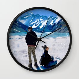 Yoonmin on Vacation Wall Clock