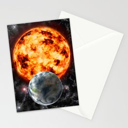 Planet Earth-Sun-Space Stationery Cards