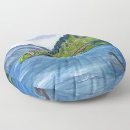 Loch Ness (with Nessie) Floor Pillow