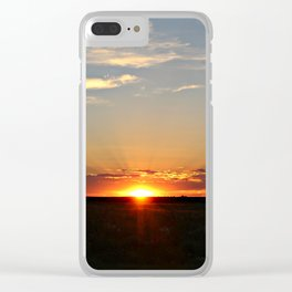 Sunset over Colorado Clear iPhone Case