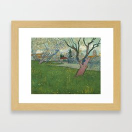 Orchards in blossom by Vincent van Gogh, 1889 Framed Art Print