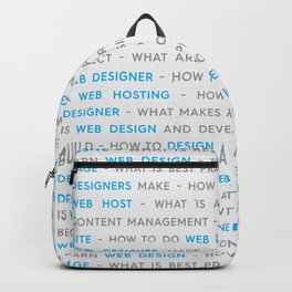 Blue Web Design Keywords Poster Concept Backpack