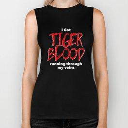 Tiger Blood on black Biker Tank
