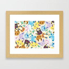 Eevee Evolutions Framed Art Print