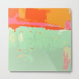 Infinity abstract art print pastel color Metal Print