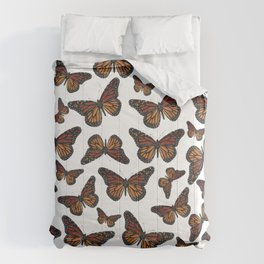 Mystical monarch butterfly Comforters