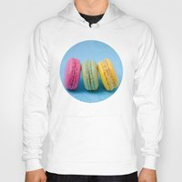 macaron Hoodies featuring Macaron Series - Blue by Zayda Barros
