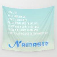 namaste Wall Tapestries featuring Namaste by PatriciaRoberta