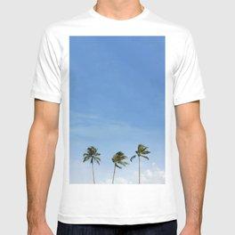3 Palm Trees with Blue Sky | Hawaii, Coastal, Tropical, Photography T-shirt