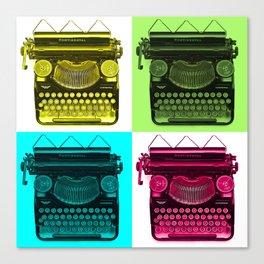 Typewriter Grid Canvas Print