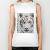 tiger Biker Tanks featuring TIGER TIGER by Catspaws