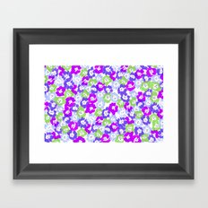 Morning Glory - Violet Multi Framed Art Print
