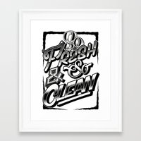 outkast Framed Art Prints featuring So Fresh & So Clean by Jon Finlayson