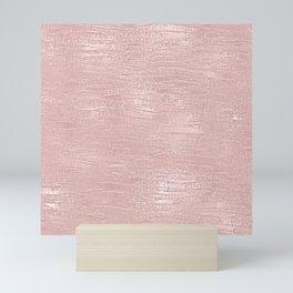 Metallic Rose Gold Blush Mini Art Print