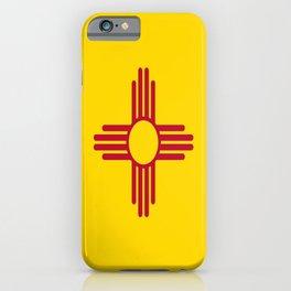 flag new mexico-usa,america,sun,Zia Sun symbol,New Mexican,Albuquerque,Las Cruces,santa fe,roswell iPhone Case