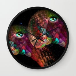 Two beings from other worlds Wall Clock