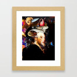 Bosch and Rubens Sandwich with a Peep of Magritte Framed Art Print