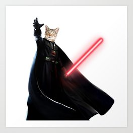 darth vader cat Art Print