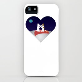 Belka and Strelka on the moon iPhone Case