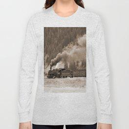 Steam Hauled Train - Engine 486 Long Sleeve T-shirt