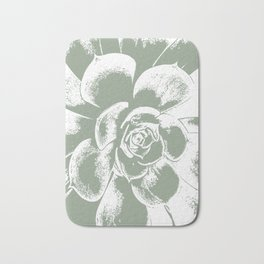 Sage Green Succulent Print Bath Mat
