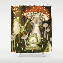 mushroom forest yoga Shower Curtain